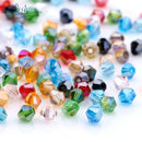 3mm Loose Mixed Color Bicone Crystal Beads  For Jewelry Making Bracelet Beads  Beadwork Czech Glass Beads Acessories Wholesale