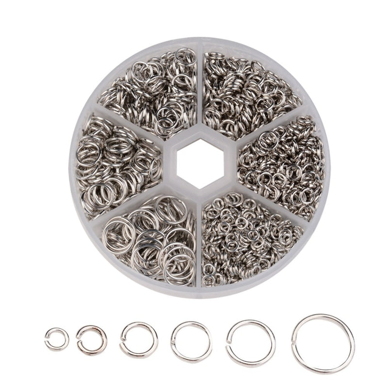 4~10x0.7~1mm Metal Open Jump Rings Jewelry Making Findings Chainmail Making Component Jewel Accessories DIY Close Unsoldered Mix