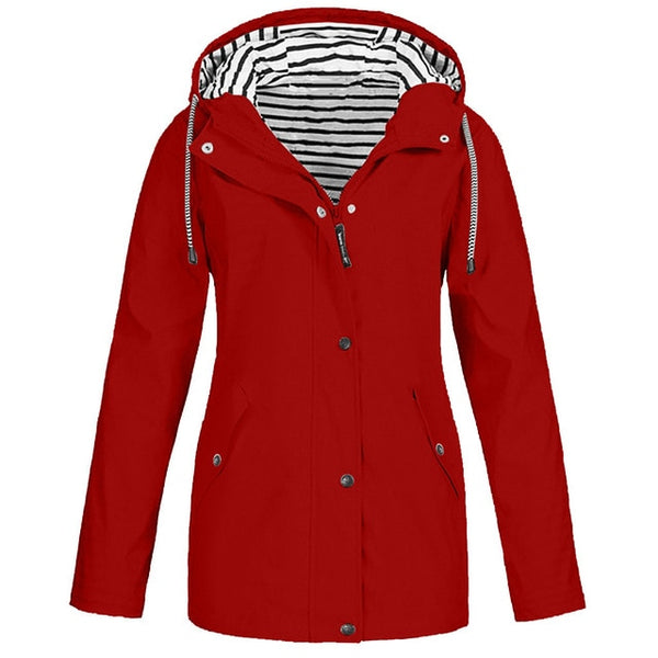 Zippered Waterproof Coat Jacket for Women