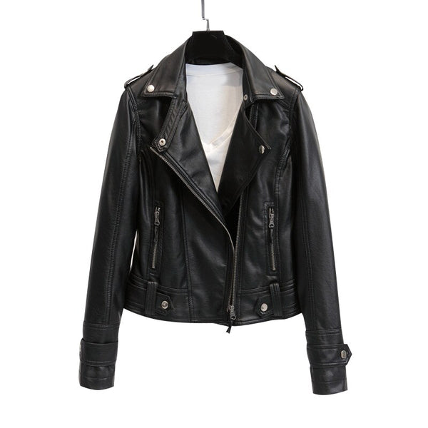 Leather Jacket Coat for Women