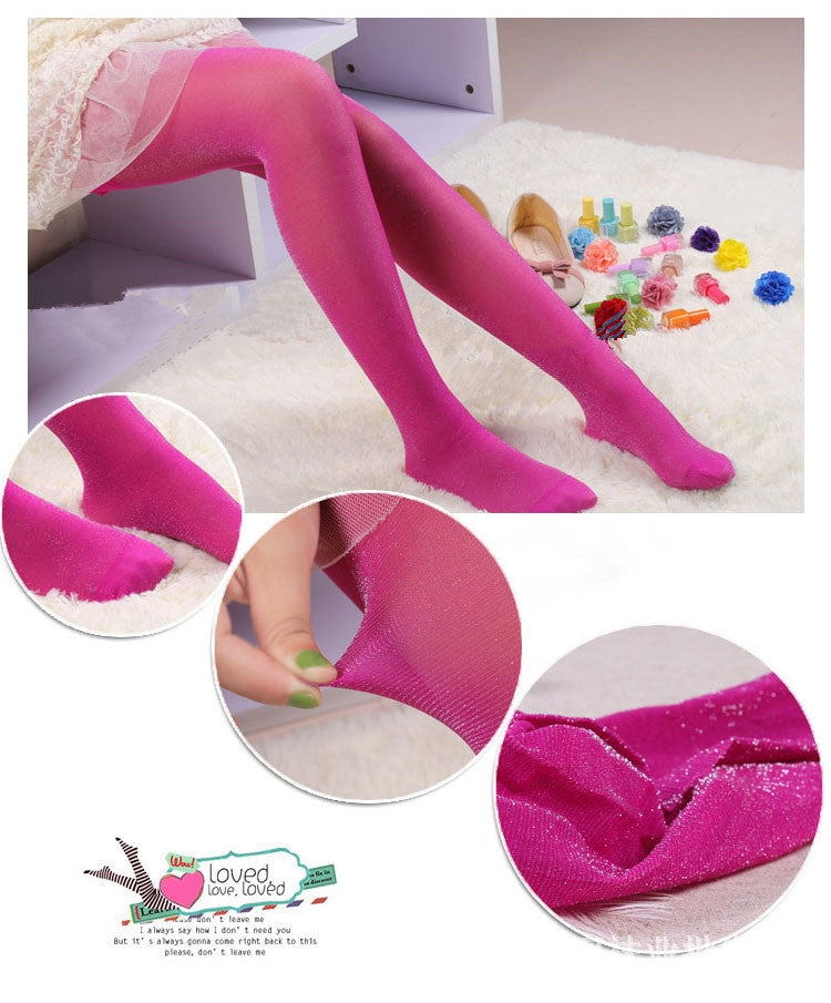 3pairs Lot Women Sexy Thin Tights Candy Color Girls Stockings Bling Panty Hose Female High Waist Tights Hosiery Meias Collant