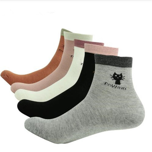Ladies Hosiery Knit Cotton Socks