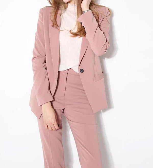 Business Ladies Suit Pants Blazer