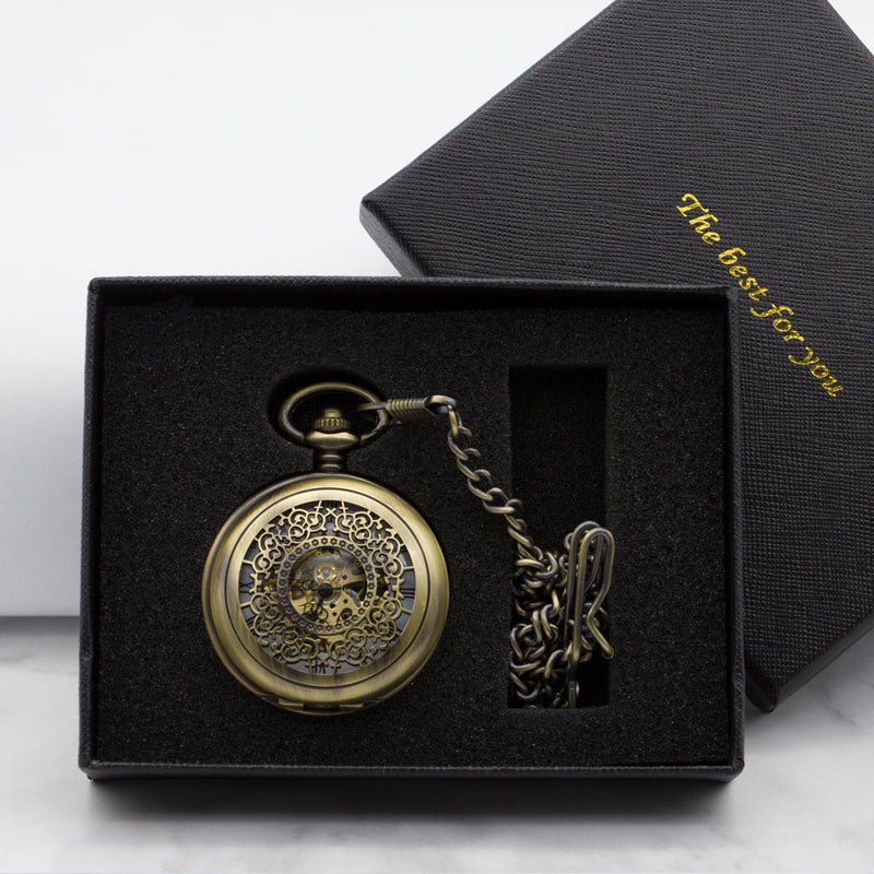 Mechanical Pocket Watch Men Necklace Pocket & Fob Watches with Chain