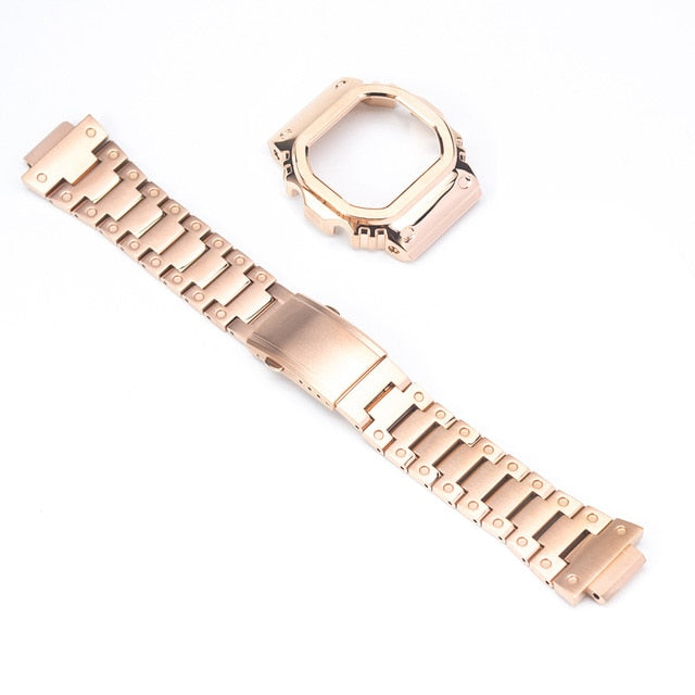 Watchband Bezel/Case Watch Set For DW5600 GW-M5610 Metal 316L Stainless Steel Watch Accessories