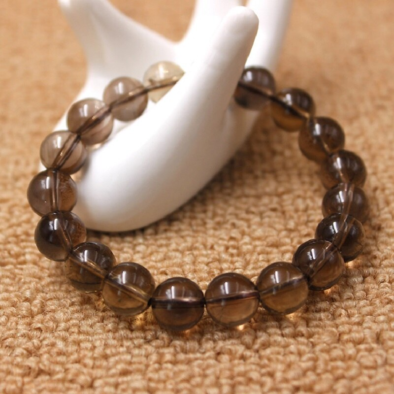 Loose Faceted Smoky brown Quartz Bracelet Crystal Nature Stone Wrap Bracelet For Women Fashion Jewelry Boho Bangles
