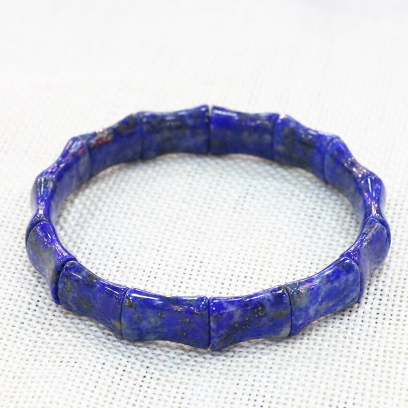 Women Men Bracelets Made From Blue Natural Lapis Lazuli