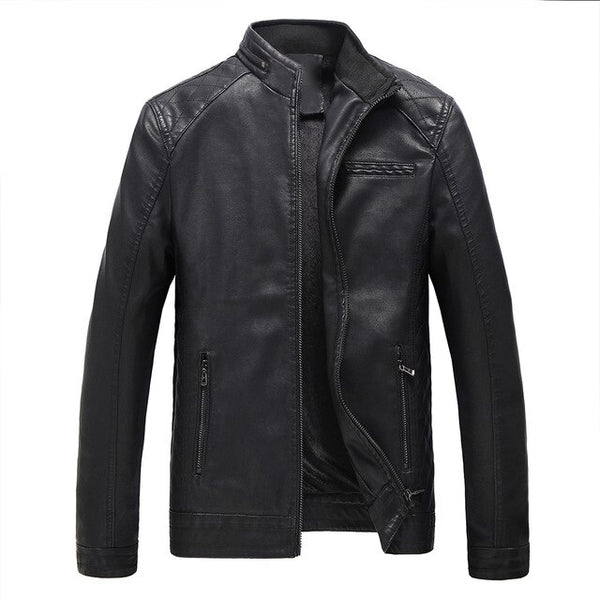 Leather Cuir Jacket For Men Motorcycle