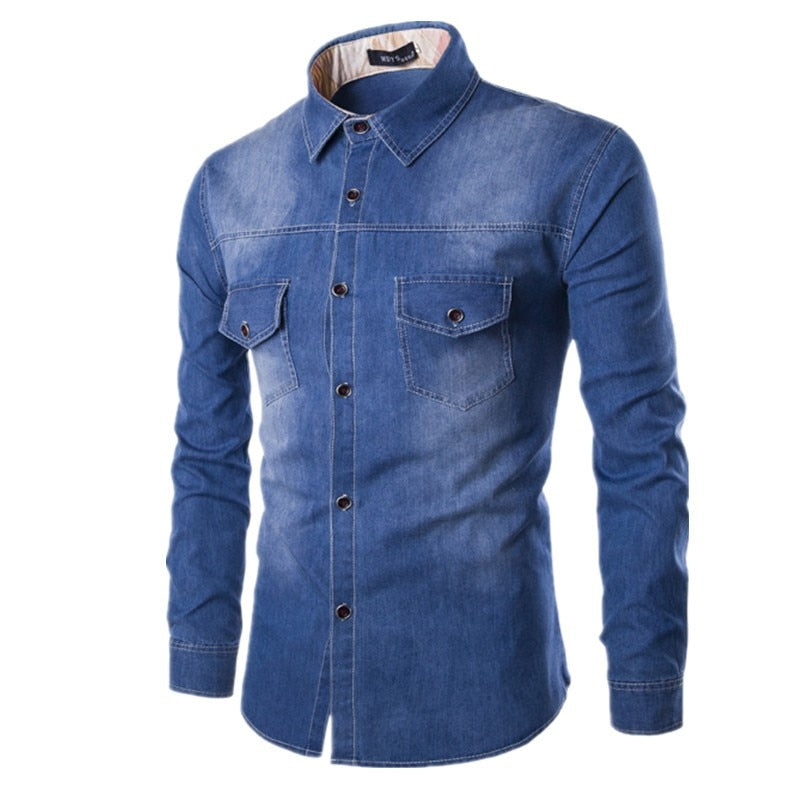 Denim Shirt for Men HQ