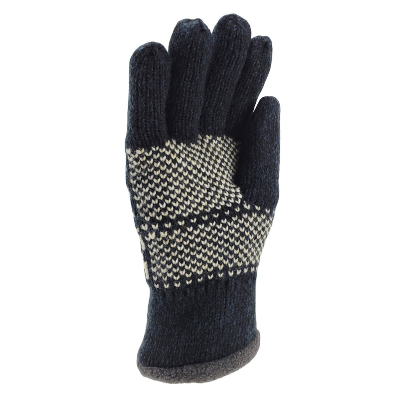 Bruceriver Mens Knit Winter Gloves with Warm Thinsulate Fleece Lining