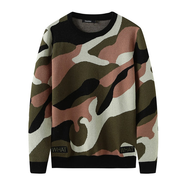 New 2018 Man Luxury gentleman Embroidered camouflage What Knit Casual Sweaters pullovers Asian Plug Size High quality Drake #H81