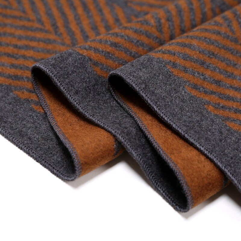 2018 100% Silk Brushed Warm Scarfs for Business Men Winter Scarf Wraps 180x30cm Luxury Xmas Gifts