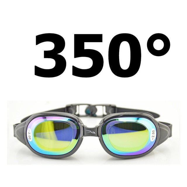 Optical Swim Goggles Prescription Swimming Glasses Men Women with Myopia Lens -1.5~-7 diopters Left and Right can be different
