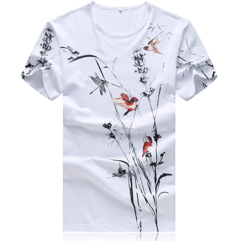 Streetwear plus size t shirt cotton print 3d t shirt Casual New Summer Men Basic T Shirt Sexy Long Sleeve Slim