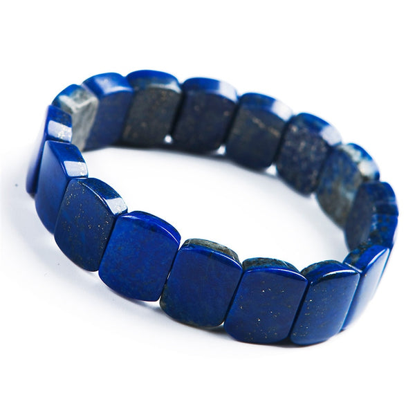 Lapis Lazuli Genuine Bracelet Blue Natural Stone Rectangle Lapislazuli Bracelet