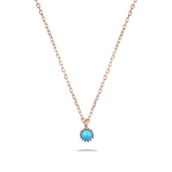 Gold Turquoise Necklace for Women