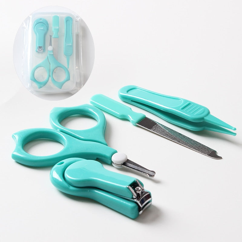 Baby Cute Manicure Set Stainless Steel Nail Clippers Scissor Cutter Kit With Plastic Case For Children Kids