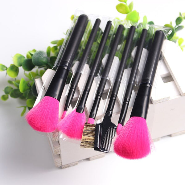 Fuchsia Cosmetics Makeup Brushes Set Professional Beauty Foundation Powder Blush Complexion Perfection Brush Set Kit Tools