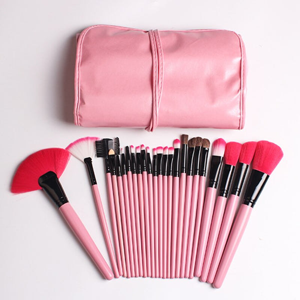 Pink Makeup Brush Set Cosmetic Power Eye Shadow Foundation Blush Blending Pincel Maquiagem Makeup Brushes Tools Kits