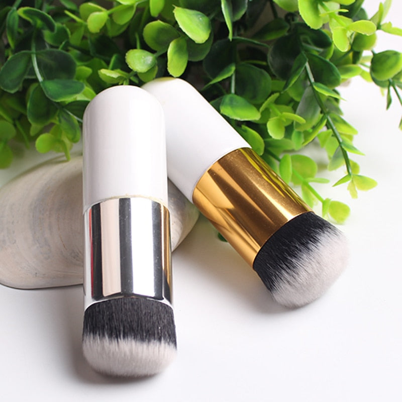 1pc Big Round Head Makeup Brushes Foundation Brush Flat Cream Pinceis De Maquiagem Chubby Pier Cosmetics Make Up Brushes Tools