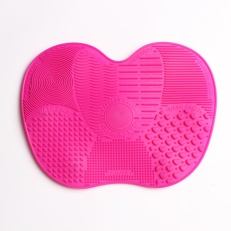 1pc Silicone Makeup Brush Cleaning Mat Washing Tools Hand Tool Pad Sucker Scrubber Board Washing Cosmetic Brush Cleaner Tool