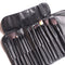 15pcs Professional Makeup Brushes Set Black Leather Case Powder Foundation Eyeshadow Essentials Cosmetics Make Up Brush