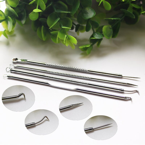 Acne Blackhead Removal Needles Pimples Acne Stainless Steel Blackhead Comedone Acne Extractor Remover Makeup Tools Needles