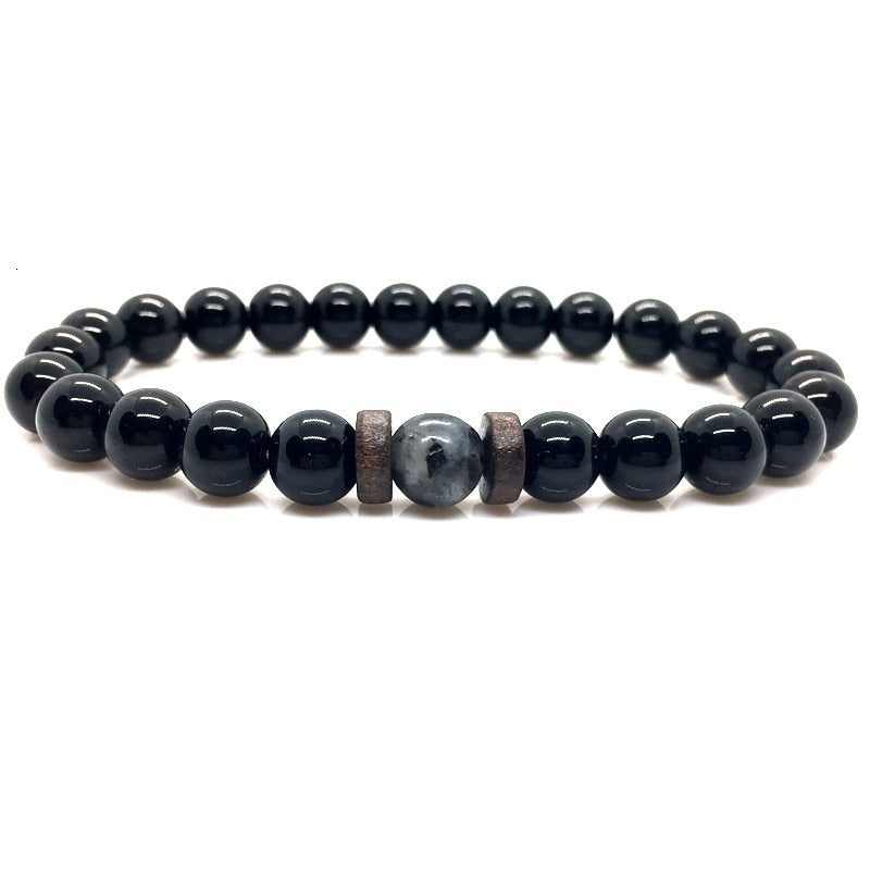 Lava Stone & Moonstone Bracelet for men