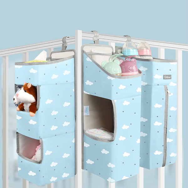 Baby Bed Crib Organizer Hanging Bags Newborn Baby Bedding Diaper Kids Bag Bed Linen