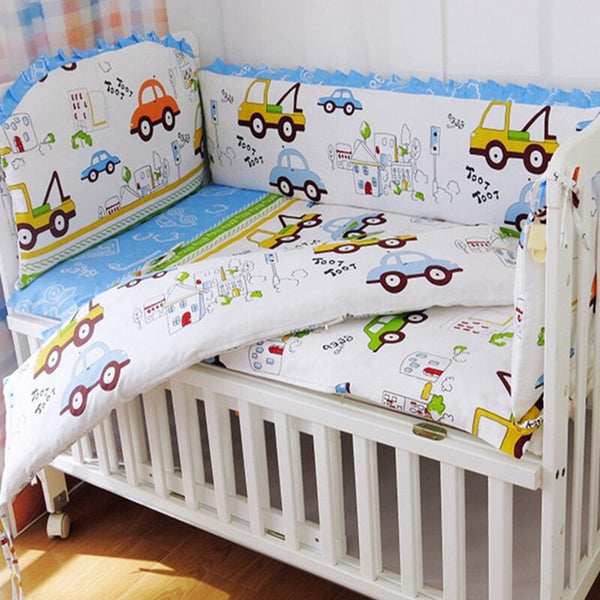 Newborn Baby Bedding Crib Kids Crib Bed Cotton Baby Bedclothes