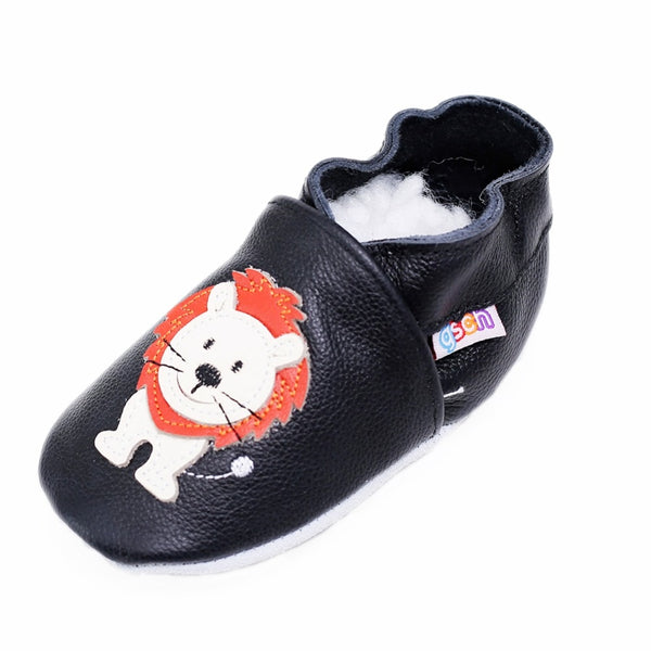 The Lion King Baby Boy Crawling Slippers Infant Toddler Pre-Walker Shoes Soft Leather Suede Sole First Walking Moccasins shoes