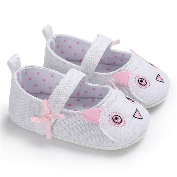 2019 Baby Girl Shoes Cute Cartoon Animal Leopard Newborn First Walker Anti-slip Baby Shoes Babys Princess Shoe