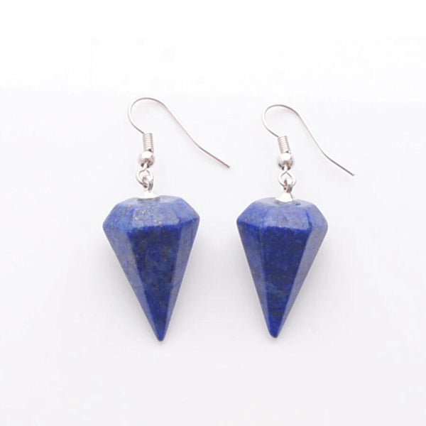 Drop Earrings Natural Lapis Lazuli Gemstones