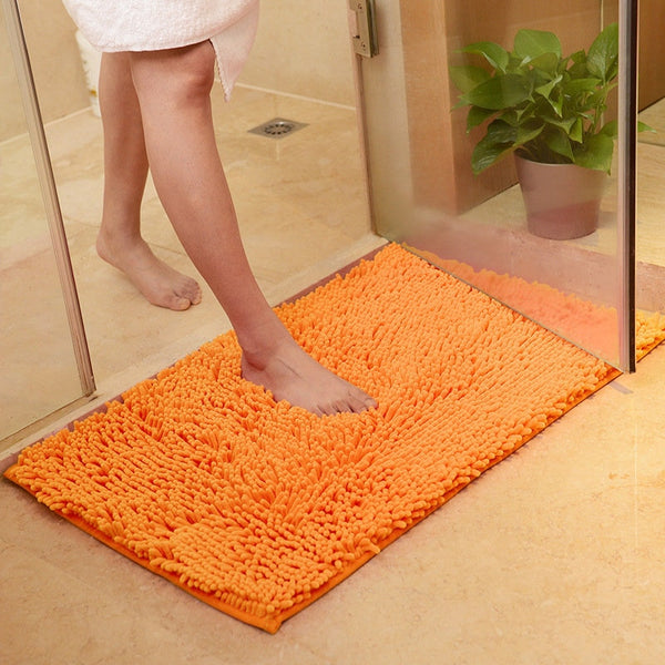 High Quality Bathroom Carpet Anti-slip Bath Rug Outdoor Shower Room Rugs And Mats Chenille Bathroom Floor Mat Toilet Door Mat