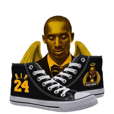 Black Mamba Rip Kobe Bryant 1978-2020 High Top Canvas Shoes Sneakers