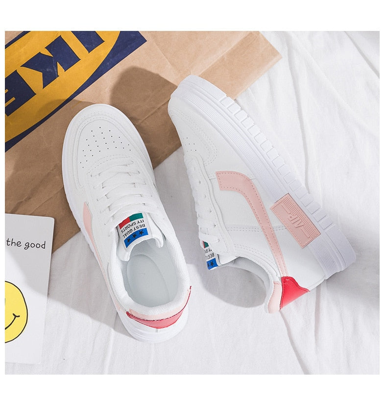 Hole Breathable White Mesh Shoes for Women