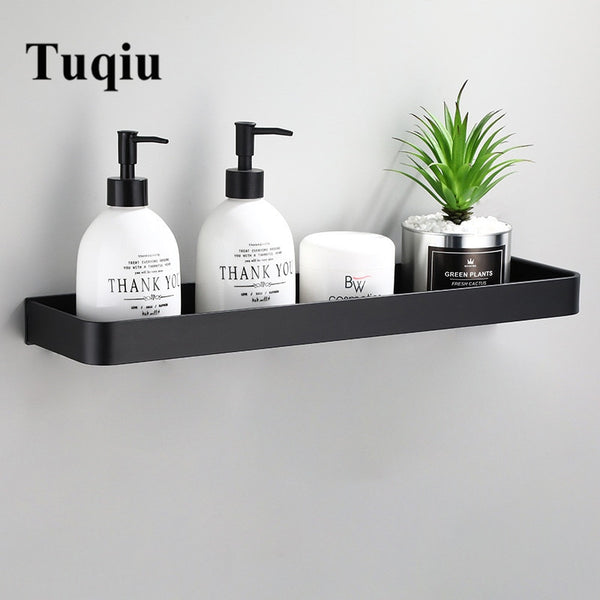 Bathroom Shelf Bath Shower Shelf Aluminum Black Bathroom Corner shelf Wall Mounted Black Aluminum Kitchen Storage holder