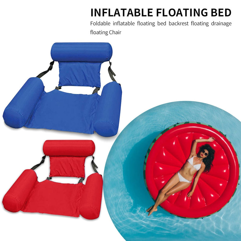 PVC Summer Inflatable Foldable Floating Row Swimming Pool Water Hammock Air Mattresses Bed Beach