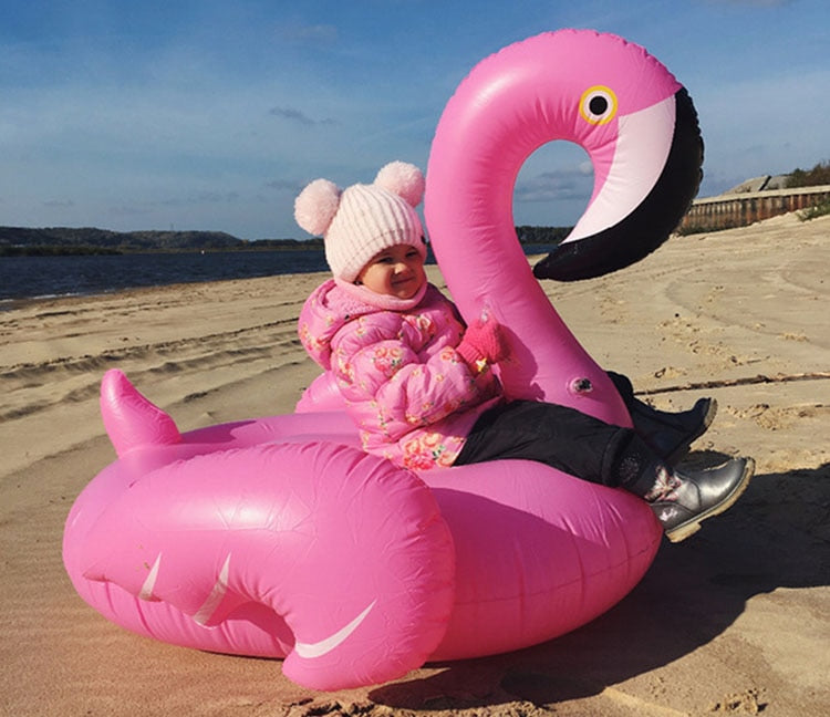 Flamingo Inflatable Pool Float Swimming Circle Rubber Ring Pool Party Toys Water Mattress Beach