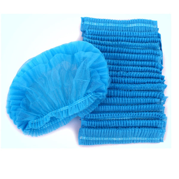 10PCS Non-woven Disposable Shower Caps Pleated Anti Dust Hat Women Men Bath Caps for Spa Hair Salon Beauty Accessories