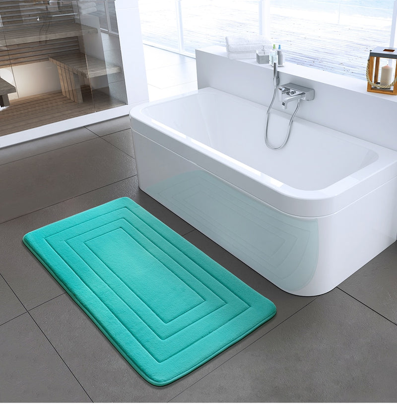 High Quality Bath Mat Bathroom Bedroom Non-slip Mats Foam Rug Shower Carpet for Bathroom Kitchen Bedroom 40x60cm 50x80cm ZA-003
