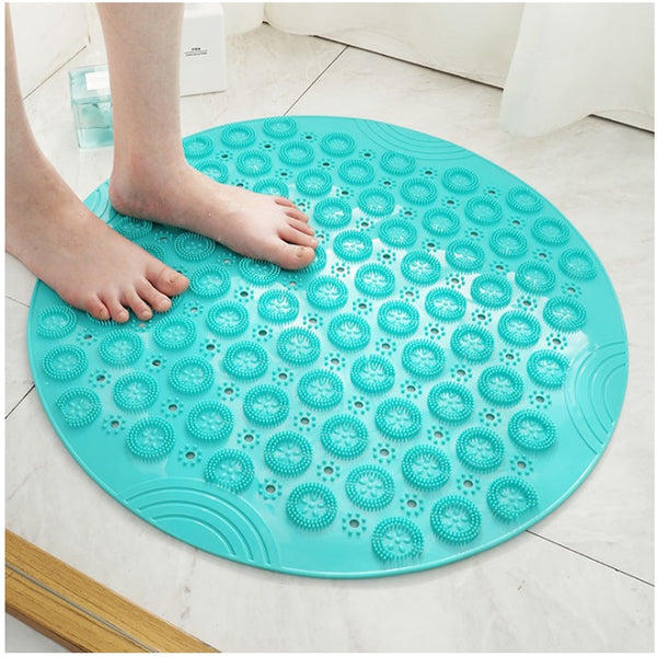 55cm Round PVC Non-slip Bathroom Mat EP Silicone Shower Bath Mat foot brush dead skin Point Bead Padbathroom non-slip mat
