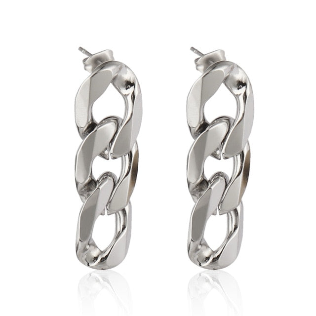 Jewelry For Women Stainless Steel Earrings Geometric Earrings For Women Unusual Earrings 2020 Trend Drop Earing Chain Earrings