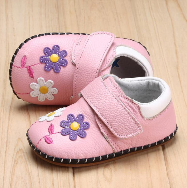 Genuine Leather Flowers Baby Shoes Soft Breathable First Walkers Spring Autumn Baby Moccasins Anti-Slip Baby Girl Shoes