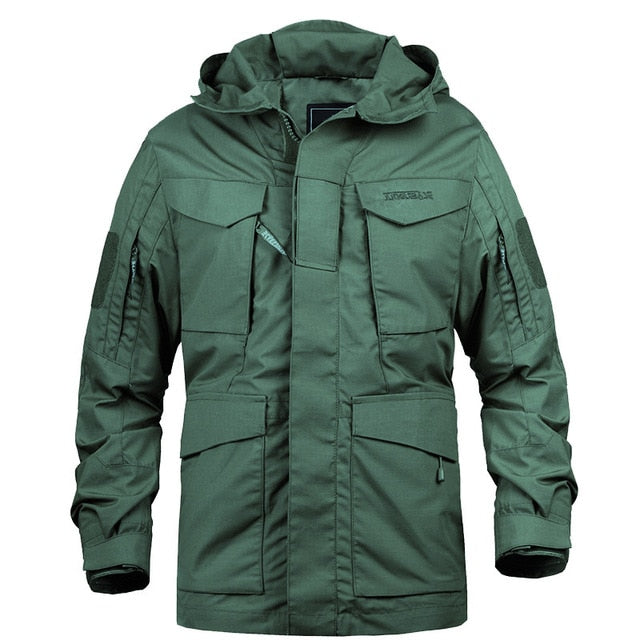 Military Camouflage Male Hoodie Field Jacket For Men