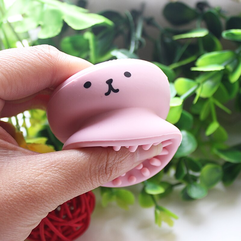 Facial Cleaning Brush Little Cute Octopus Face Cleaner Massage Silicone Face Wash Brush Cleansers Blackhead Skin Care Tools
