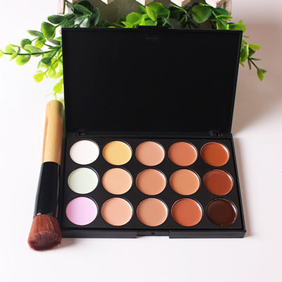 15 or 20 Colors Makeup Concealer Contour Palette + Makeup Brush Multi-Function Face Make up face powder blusher Tools Cosmetic