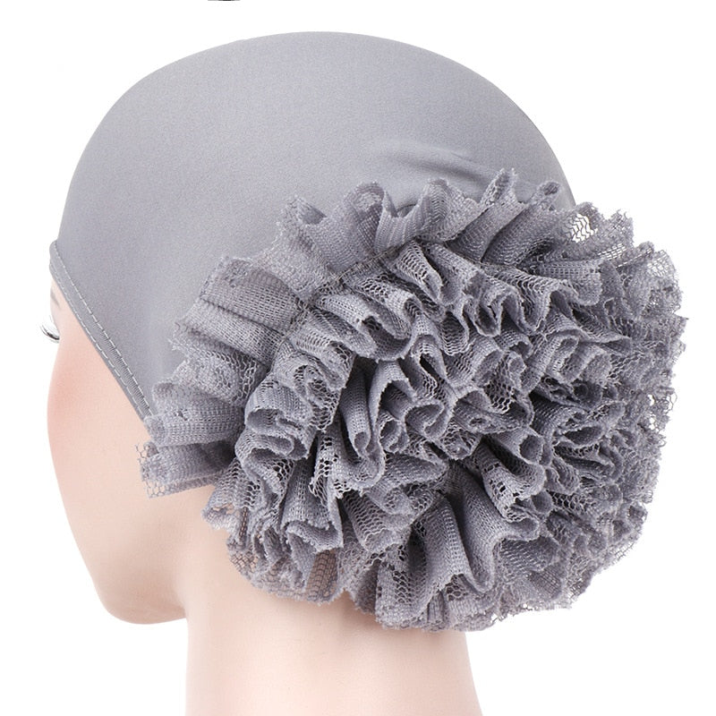 Muslim Fashion Women's Hijabs Muslim Headscarf Pile Heap Cap Women Soft Comfortable Hijab Caps Islamic Chemotherapy Hat