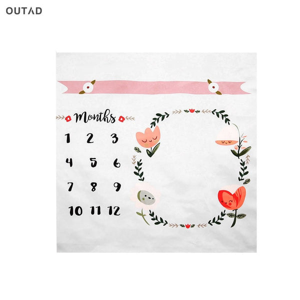 Hot! OUTAD Baby Blankets Swaddling Wrap Newborn Fashion Bathing Towel Flower Printed Cute Soft DIY Infant Kids Photography Props