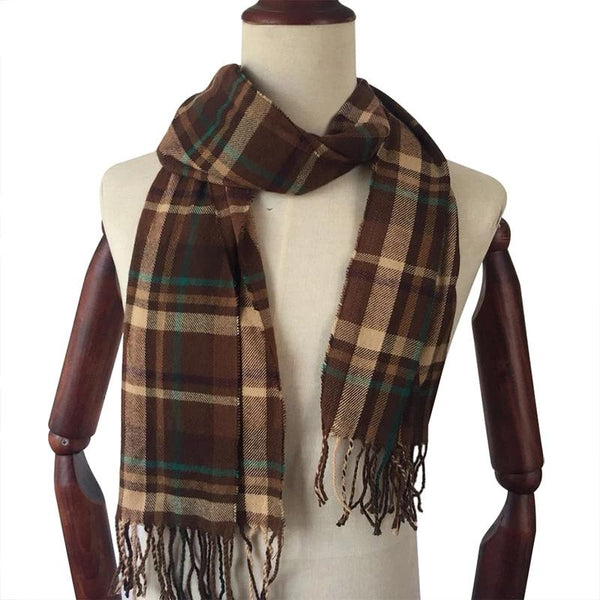 Winter Scarf 2018 Cashmere Scarf Plaid Blanket Scarf New Designer men wool plaid bandana Scarves and Wraps WJ06